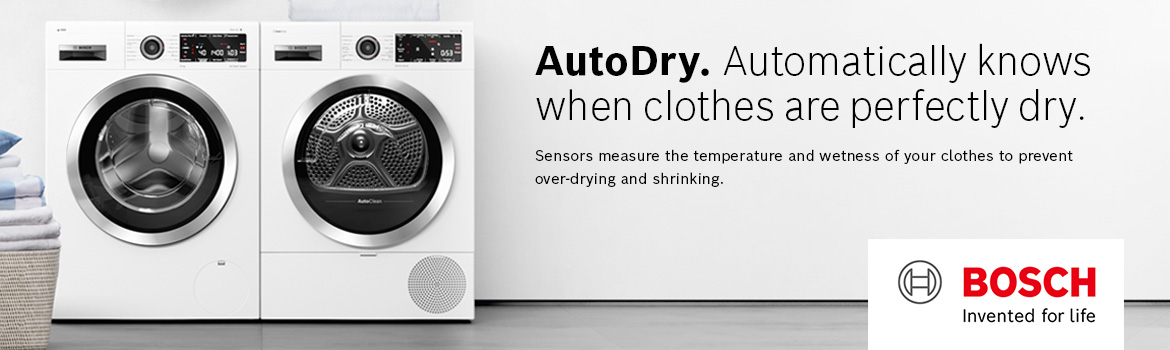 AutoDry. Automatically knows when clothes are perfectly dry.