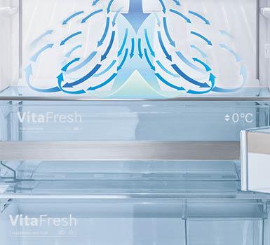 Multi Airflow System. Even air distribution for longer freshness.