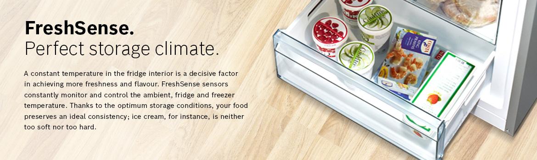 FreshSense. Perfect storage climate.