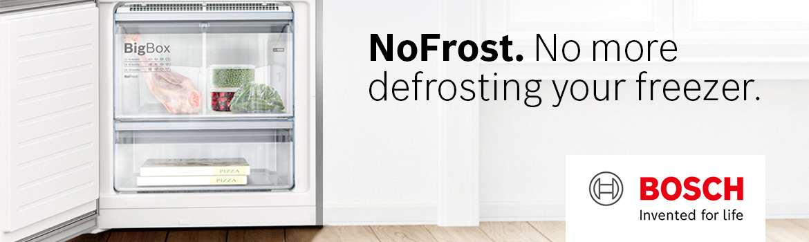 No Frost. No more defrosting your freezer