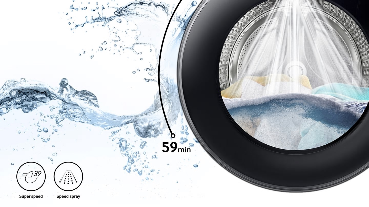 Samsung fast washes for busy lives