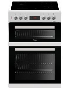 Beko KDC653W 60cm Double Oven Electric Cooker