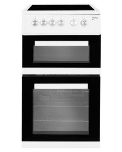 BEKO KDVC563AW Double Oven Ceramic Hob White
