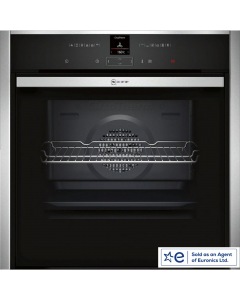 Neff B57CR23N0B Pyrolytic Slide & Hide Built In Electric Single Oven - Stainless Steel - A+ Rated Northern Ireland Only Delivery