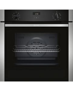 NEFF B1ACE4HN0B Electric CircoTherm® Single Oven - BLACK/STEEL - A Energy Rated Northern Ireland Only Delivery