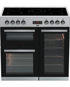 Beko KDVC90X Freestanding 90cm double oven range cooker Stainless Steel